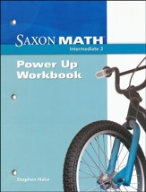 Saxon Math Intermediate 3 Power Up Workbook  - Slightly Imperfect