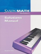 Saxon Math Intermediate 4 Solutions Manual