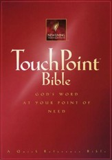 NLT TouchPoint Bible - Paperback, burgundy
