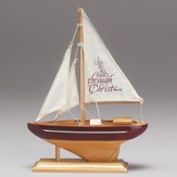 I Can Do All Things, Wood Sailboat, Small