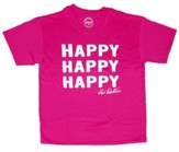 Happy Happy Happy Shirt, Heliconia, Youth Medium