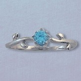 He is the Vine Blue Stone Ring Size 11