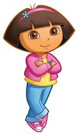 Dora, Vinyl Wall Stickers, Large