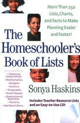 Homeschooler's Book of Lists, The: More than 250 Lists, Charts, and Facts to Make Planning Easier and Faster - eBook