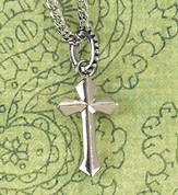 Flare Cross Necklace, Small