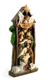 Nativity Scene Wall Plaque