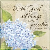 With God All Things Are Possible Tabletop Art