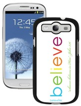 Believe Galaxy 3 Case, White