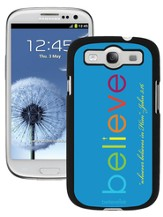Believe Galaxy 3 Case, Blue