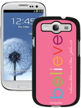 Believe Galaxy 3 Case, Pink