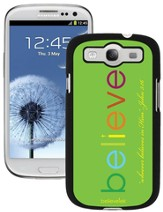 Believe Galaxy 3 Case, Green