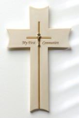 My First Communion Wall Cross, White