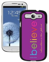 Believe Galaxy 3 Case, Purple