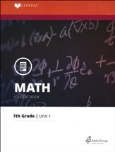 Grade 7 Math LIFEPAC 1: Whole Numbers (Updated Edition)