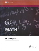Grade 7 Math LIFEPAC 2: Multiplication and Division (Updated Edition)