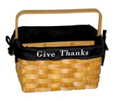 Give Thanks Utility Basket, Black Lining