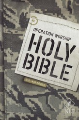 NLT Operation Worship Compact Bible, Air Force Softcover
