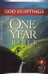 NLT God Sightings: The One Year Bible, Paperback