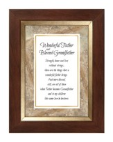 Wonderful Father and Blessed Grandfather Framed Print, 7X9