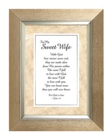 For My Sweet Wife, I John 4:8, Framed Print, 7X9