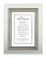 25 Years Together Framed Verse, Colossians 3:14-15, 7X9