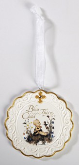 Hummel, Baptism Cradle Medal, Bless This Child