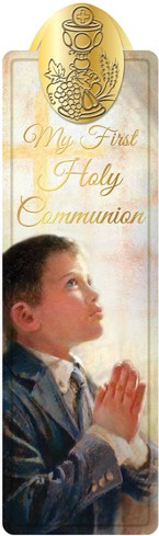 First Communion Bookmark, Boy