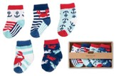 Nautical Socks Set, 4 Pairs