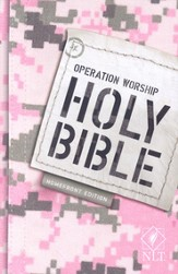 NLT Operation Worship Compact Bible, Military Families Softcover