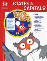 States & Capitals Activity Book & CD