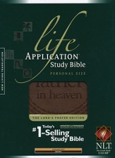 NLT Life Application Study Bible, Personal Size, Brown Imitation Leather with The Lord's Prayer