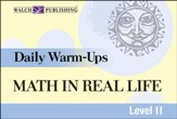 Digital Download Daily Warm-Ups: Math in Real-Life Level II - PDF Download [Download]