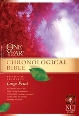 NLT One Year Chronological Bible, Large Print Hardcover - Slightly Imperfect