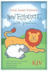 KJV Baby's New Testament w/Psalms, Bonded leather, White