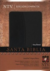 Biblia Compacta NTV, SentiPiel Negro/Onice  (NTV Compact Bible, Letherlike Black/Onice) - Imperfectly Imprinted Bibles