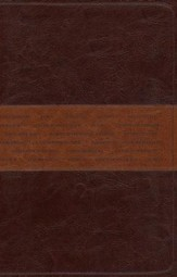 NLT One Year Bible Slimline Edition, TuTone Leatherlike Brown/Tan - Imperfectly Imprinted Bibles