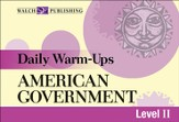 Digital Download Daily Warm-Ups: American Government - PDF Download [Download]