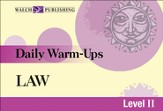 Digital Download Daily Warm-Ups: Law Level II - PDF Download [Download]