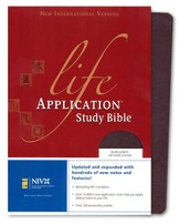 NIV Life Application Study Bible, Revised, Top Grain leather, burgundy 1984, Case of 12
