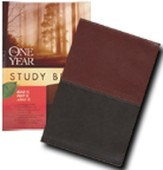 The NLT One Year Study Bible, TuTone Brown/Tan Leatherlike