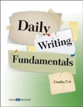 Digital Download Daily Writing Fundamentals, Grades 7-8 - PDF Download [Download]