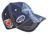 Denim Cross, Heart Cap