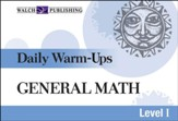 Digital Download Daily Warm-Ups: General Math Level I - PDF Download [Download]
