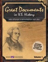 Digital Download Great Documents in U.S. History, Vol. I: early Settlement to Reconstruction (1620-1870) - PDF Download [Download]