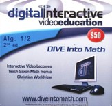 Saxon Math Algebra 1/2, 2nd Edition DIVE CD-Rom