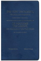 French/English (GNT) New Testament with Psalms and Proverbs--imitation leather, blue
