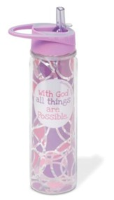 With God All Things Are Possible 20oz. Sports Bottle