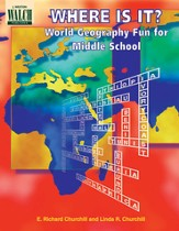 Digital Download Where Is It? World Geography Fun for Middle School - PDF Download [Download]