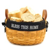 Bless This Home Bowl Basket, Black Lining