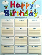 Kids' Birthday Chart, Psalm 129:8